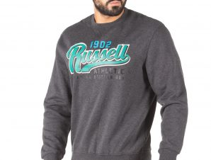 Russell Athletic 1902 – CREWNECK SWEAT SHIRT A0-057-2-098 Ανθρακί