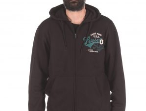 Russell Athletic TRADE MARK USA – ZIP THROUGH HOODY A0-027-2-099 Μαύρο